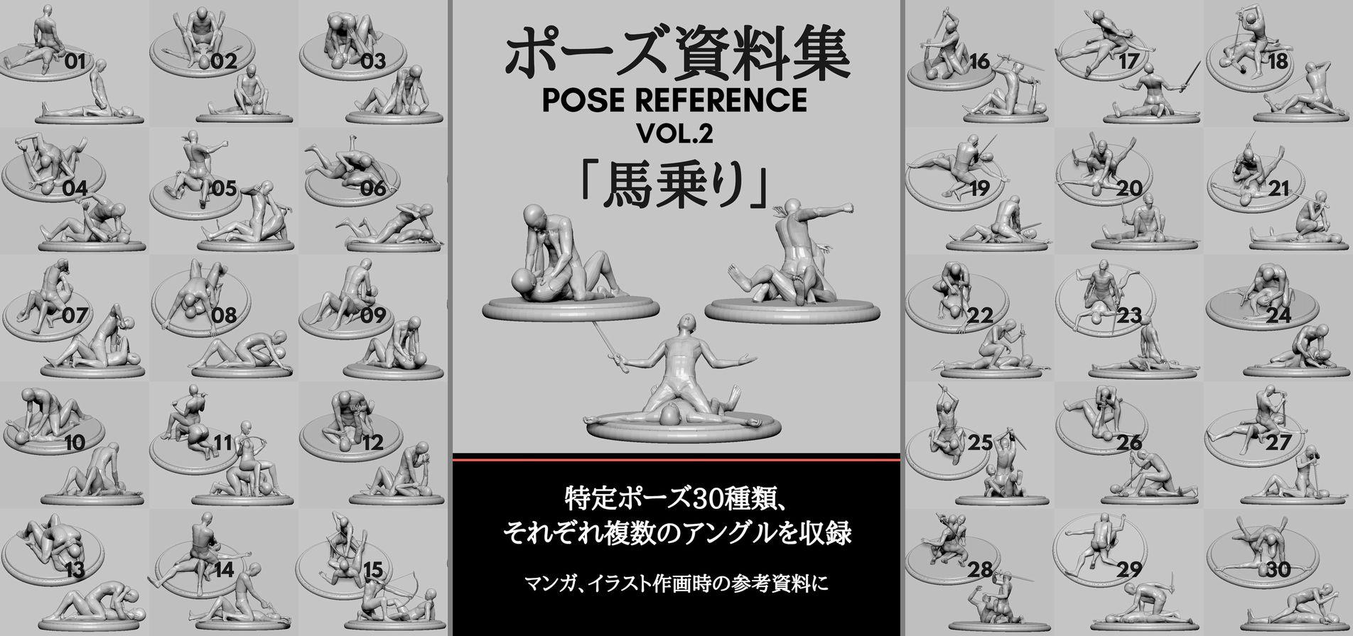 ポーズ資料集vol2発売 髪と形