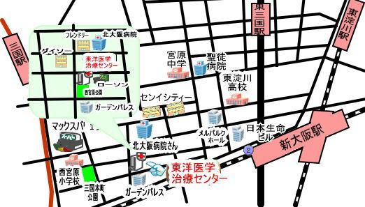 大阪市淀川区新大阪周辺地図