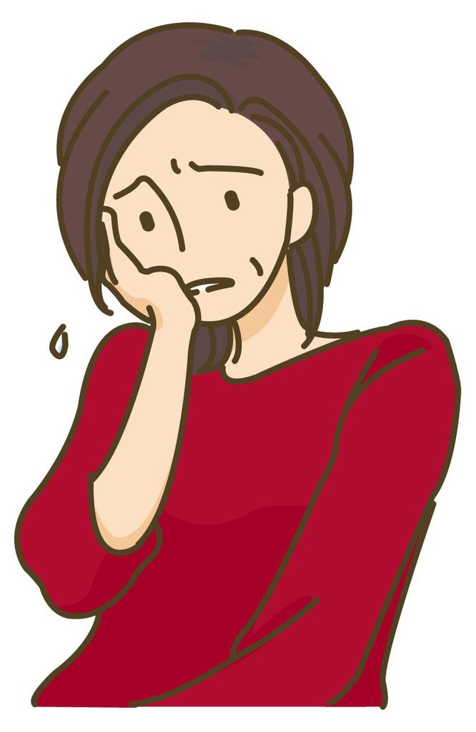 顔面神経麻痺の女性