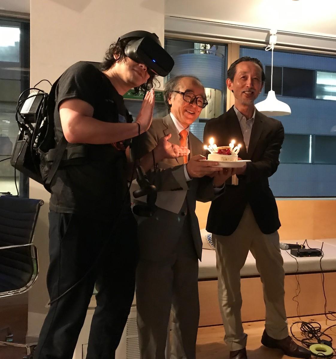 Picure of VR Brothers: Michitaka Hirose, Katsura Hattori, and GOROman