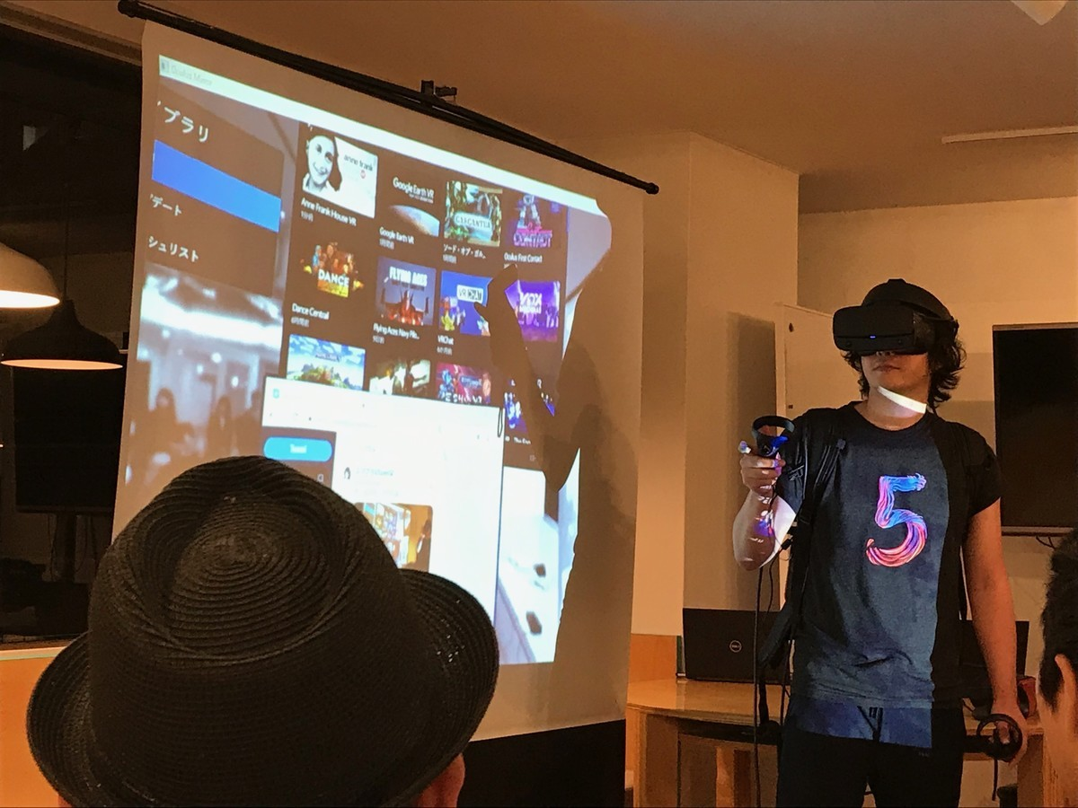 AR like VR: Mr. GOROman Opens Several Windows in the VR Space of Which Background is the Projected Image of Real World.