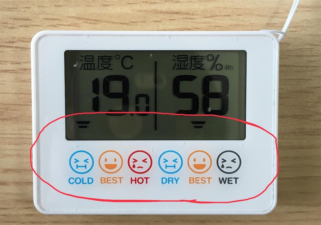 赤ちゃん本舗温湿度計 表示