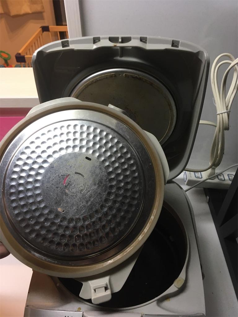 炊飯器中蓋