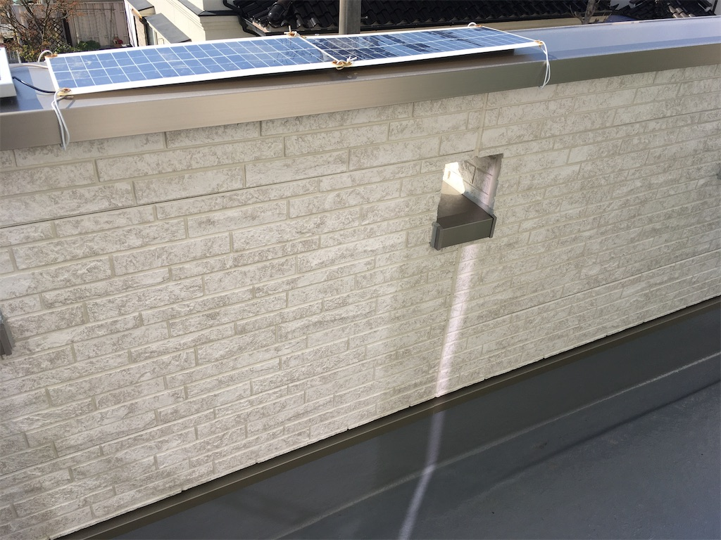 太陽光50Wパネル設置