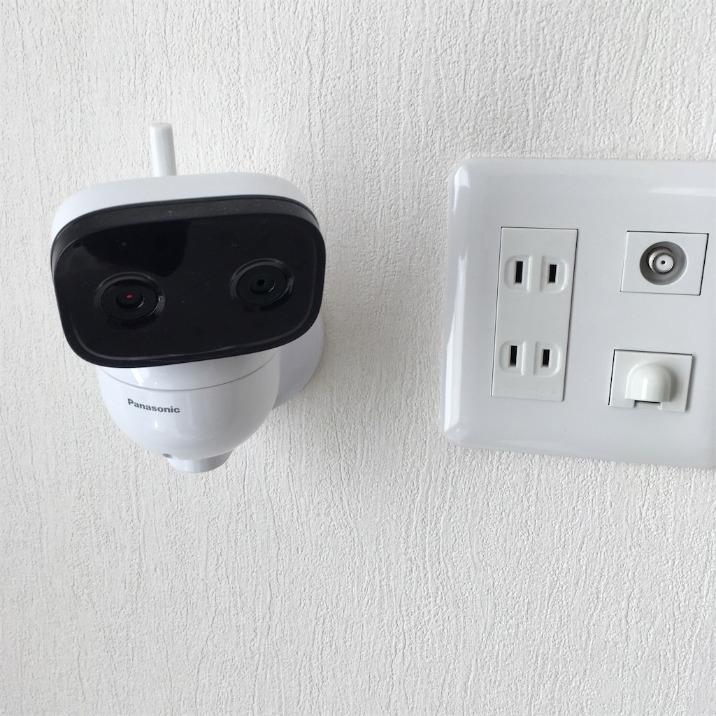 カメラの壁つけ設置