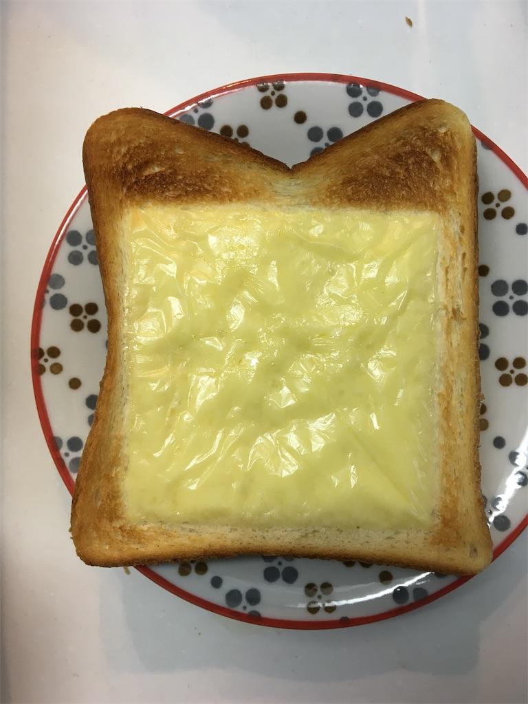 チーズトースト焼き時間4分半 焦げた