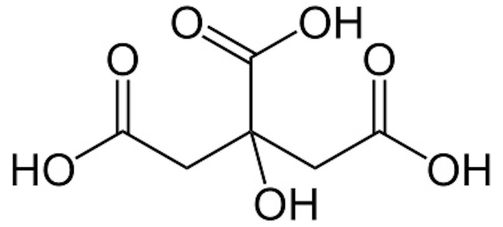 クエン酸構造式