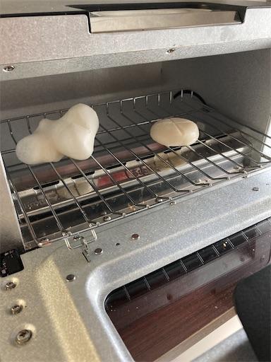 6分で焼いた餅