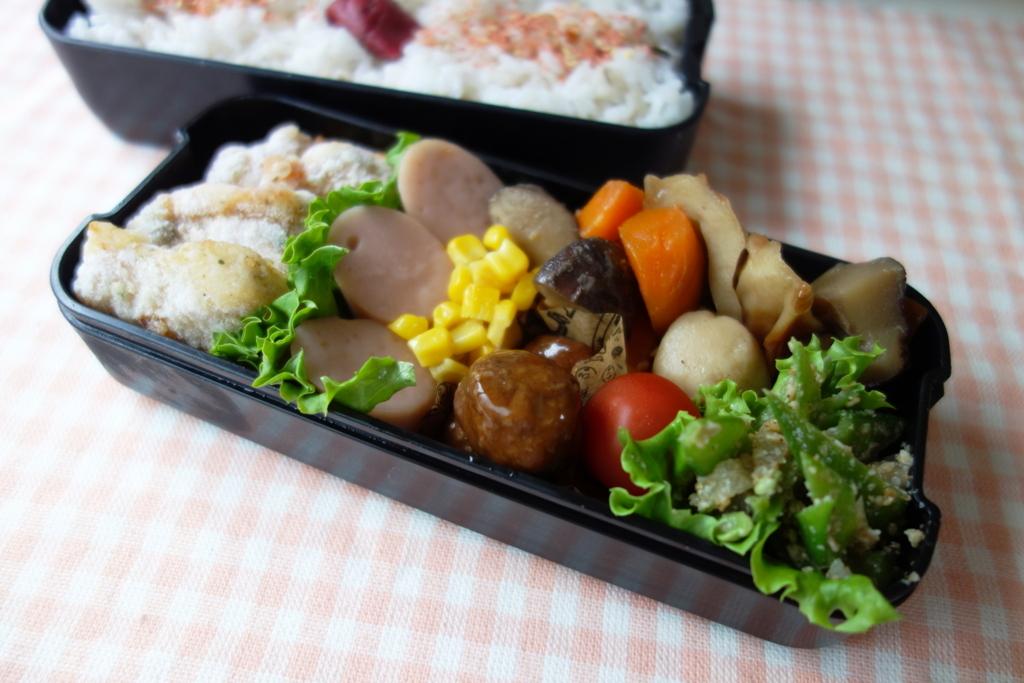 お弁当と夕食と、きのこオムレツ - あぶちゃんとおさじ