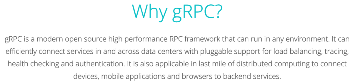 Why, gRPC?