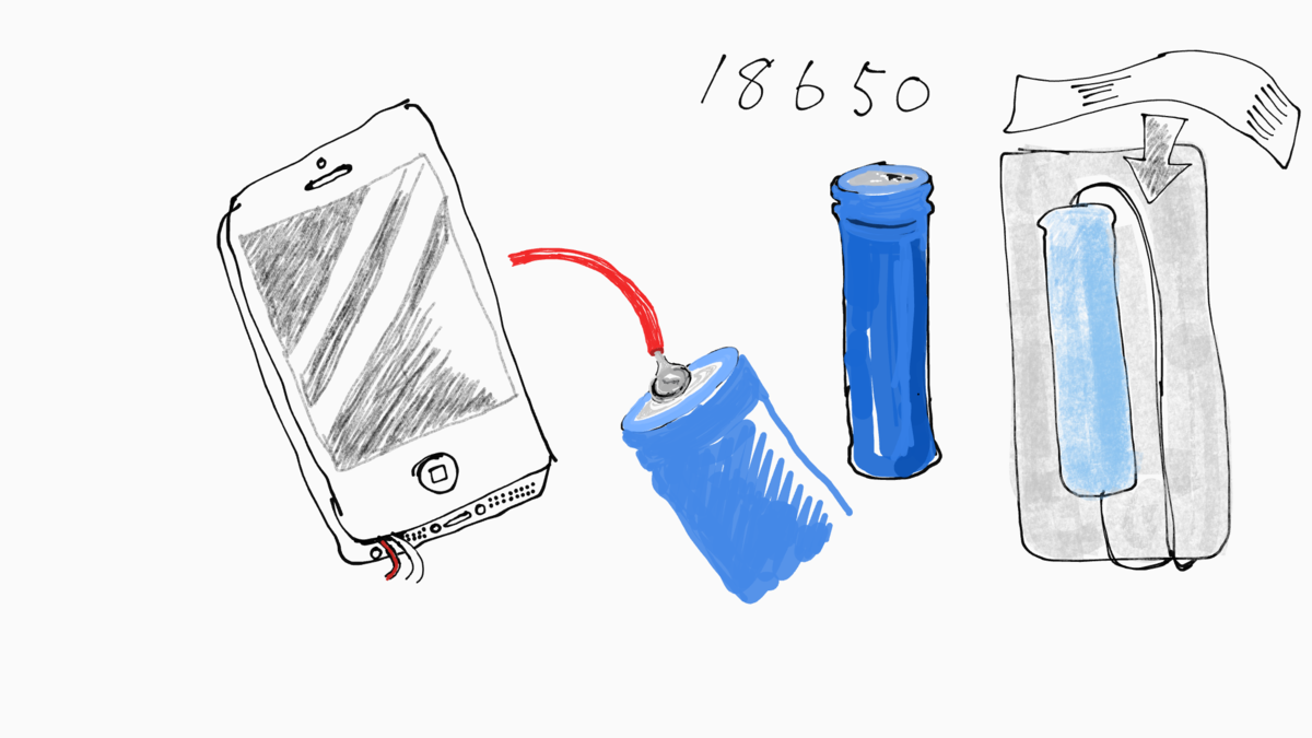スマホバッテリー交換 18650