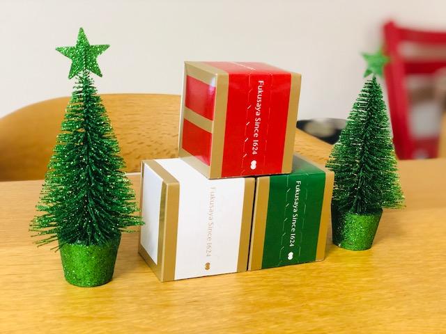 福砂屋のキューブ(クリスマス限定デザイン)