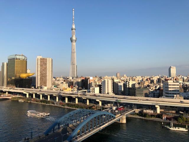 ホテルからの眺め 隅田川 スカイツリー