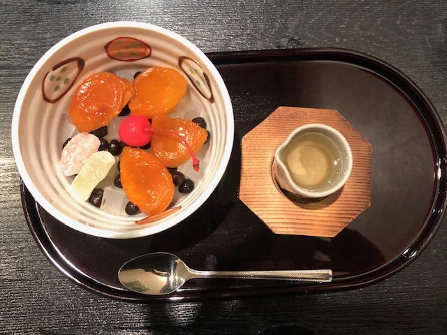 あんずみつ豆(白みつ)