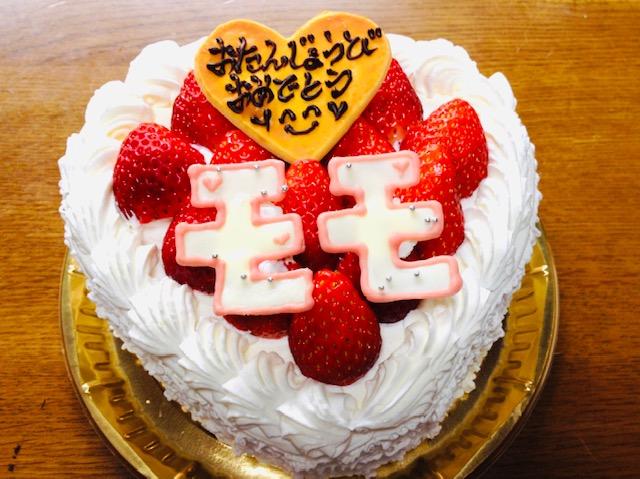 ももちゃんのお誕生日ケーキ