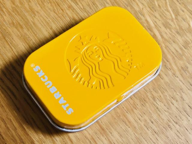 スタバのミント缶