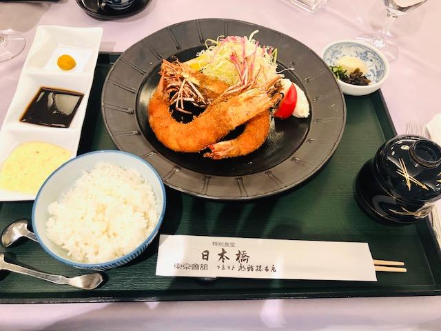日本橋三越 特別食堂 海老フライ膳