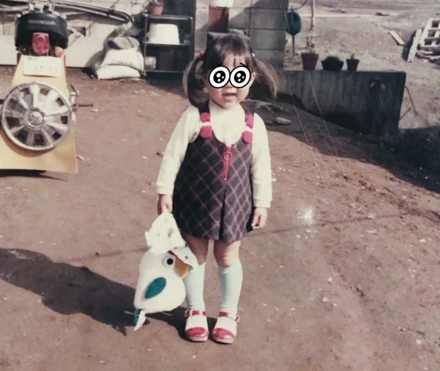 子供の頃 ニワトリのバッグ