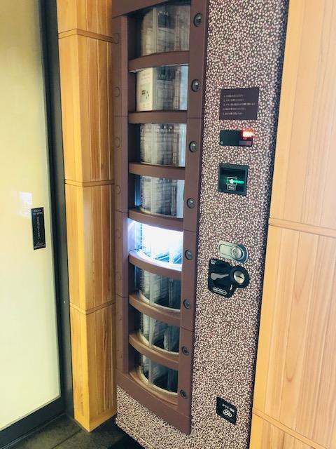 とらや赤坂店 羊羹の自動販売機