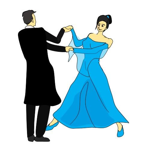 社交ダンスを踊るカップル