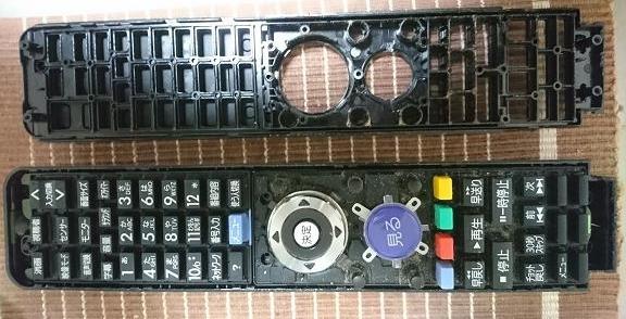 テレビのリモコン分解