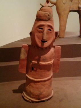 東博にて、埴輪「盾持人」。気のいいおっちゃんみたい。