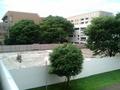 [散歩][目白周辺]ピラ校の跡地を上から眺める。意外と狭く感じる。
