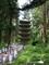 羽黒山の五重塔。