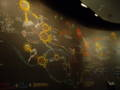NASAにて。壁一面に描かれた、宇宙とロケットとエネルギー循環の図。