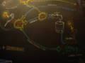 NASAの壁のチョーク絵。光合成を思い出しますが、もちろん違います。