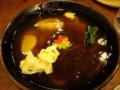 [旅行][ごはん]琵琶湖長浜、名物「のっぺいうどん」。お椀右下は巨大シイタケ。