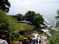 [旅行]竹生島、上からの眺め。右下に帰りの船が繋留している。