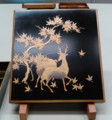 [museum]東京国立博物館にて。蒔絵の鹿です。鹿には紅葉、決まりでしょ。