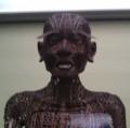 [museum]銅人形のアップ。爺さんみたいなお顔。17世紀のもの。