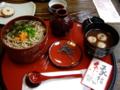 [旅行][ごはん]09年3月20日、出雲そばを食す。右のお椀は「そばぜんざい」。