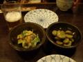 [旅行][ごはん]09年3月20日、倉敷の夜。左のぬたが、うまっ!