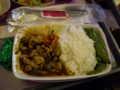 [フランス]タイ航空の機内食。タイ食か普通食か選択可。これはタイ食(チキン)、