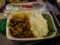 タイ航空の機内食。タイ食か普通食か選択可。これはタイ食(チキン)、