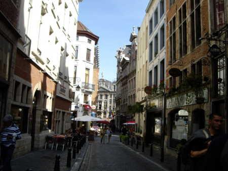 ブリュッセルの街角。