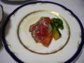[旅行][ごはん]2010.3.25. 熱海伊豆山。牛肉のたたきサラダ。