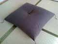 [HOUSE][買物]プレゼントの座布団。和室にもリビングにも合い、お気に入りです。