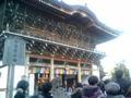 [散歩] 2013年元旦、成田山の総門。