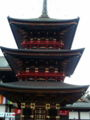 [散歩]  2013年元旦、成田山新勝寺の三重塔。