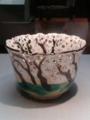 [museum] 仁阿弥道八作、19世紀、色絵桜樹図透鉢。2014/03/15、上野の東京博物館