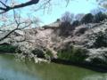 [散歩] 2014/03/31、皇居北の丸の武道館を臨んで。