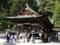 2014年4月27日、近江八幡。日牟礼八幡宮の拝殿。