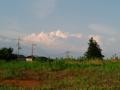[散歩] 2014年6月14日、夕焼けの積乱雲。