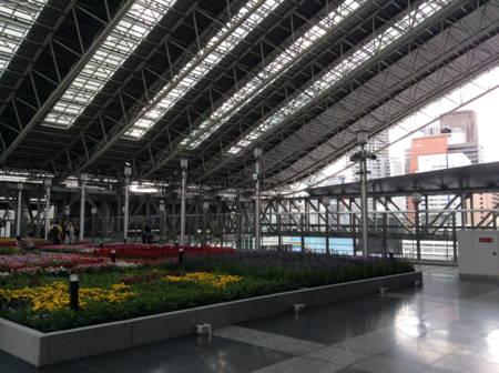 JR大阪駅ビルにて。