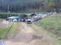 [旅行]2015/09/20、奈良県曽爾村。維新派の屋台村が見える