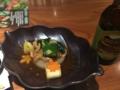[旅行][ごはん]2016/10/20、奈良。夕食。九条ネギと鶏の吉野煮